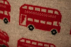Red bus fabric