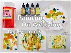 Painting on Wet GLUE ♡ Mixed Media Journaling BACKGROUNDS ♡ Maremi's Sma...