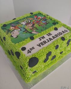 Ben 10 Transfer #Ben10 #benten #transfer #piped #green #cake #dlish Green Cake, Ben 10, Cakes For Boys, Birthday Cakes, Decorative Boxes, Desserts, Food, Meal, Anniversary Cakes