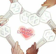 Cre: the owner/as logo Exo Kai, Chanyeol, Exo Stickers, Exo Anime, Exo Fan Art, Exo Memes, Kpop Exo, Cute Anime Wallpaper, Cool Bands