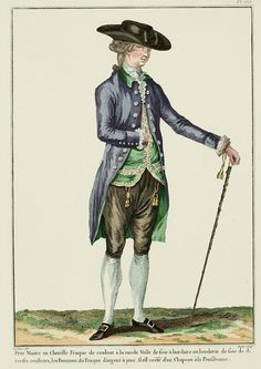 Galerie des Modes, 35e Cahier, 3e Figure  Little Master en Chenille.  Frock coat of a fashionable color.  Silk vest with a border of silk embroidery in diverse colors, the Buttons of the Frock in fashionable silver.  He is coiffed with a Hat à la Pensilvanie. (1780)