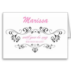 Will you be my BRIDESMAID? Personalized card