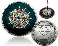 Geocaching Pendel Geocoin XXL Antik Silber (inkl. Copy Tag)