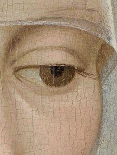 Portrait of a Lady (c. 1460) by Rogier van der WEYDEN CRAQUELADO DE COTA DE MALLA