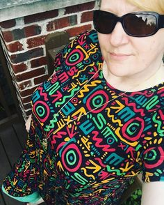 Loving my pop art #Carly with the best #leggings from @lularoe @lularoeheatherfrick #LuLaObsessed