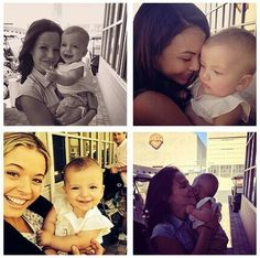 Tammin Sursok With Daughter, Janel Parrish & Sasha Pieterse
