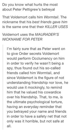 I love people's theories and how they truly make HP their own.