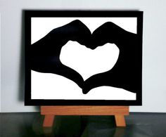 Silhouette de coeur amour découpage du papier, papier Silhouette papier coupé cadeau de Saint Valentin, cadeau de mariage, papier cadeau d'a...