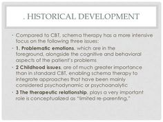 Lecture 2 schema therapy overview & early maladaptive schemas