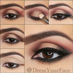 """Have you decided on your holiday look for tomorrow?! If not, here's eye makeup inspiration/step-by-step!❤️ @DressYourFace dressed my eyes here with the…"""