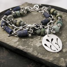 Carved Lapis Turquoise and Sterling Silver by coldfeetjewelry, $150.00