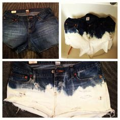 DIY jean shorts, only spent $3.75