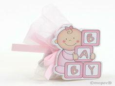 Porta fotos madera bebé rosa 2caras 3peladillas choco - http://regalosoutletonline.com/regalos-originales/bautizos/porta-fotos-madera-beb-rosa-2caras-3peladillas-choco