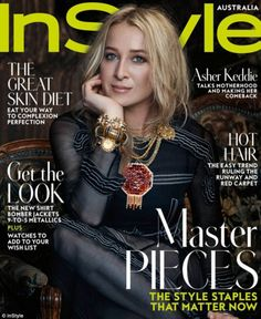 Asher Keddie for InStyle Australia August 2016