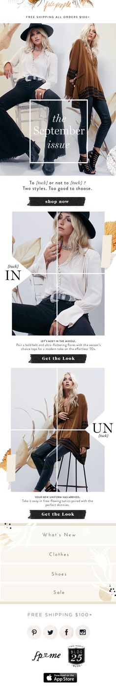 FREE PEOPLE // Subj: Your New Uniform Has Arrived