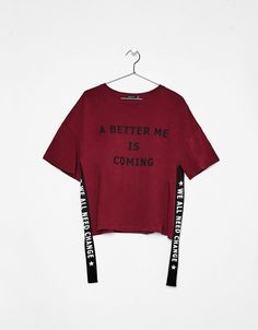 T-shirt with side strips. Discover this and many more items in Bershka with new products every week