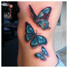 See more tattoo ideas on http://tattooswall.com/amazing-blue-butterfly-tattoos-on-rib-side-038.html Amazing Blue Butterfly Tattoos On Rib Side #038 - http://goo.gl/a53UYC #038, #Amazing, #Blue, #Butterfly, #ButterflyTattoos, #On, #Rib, #Side, #Tattoos