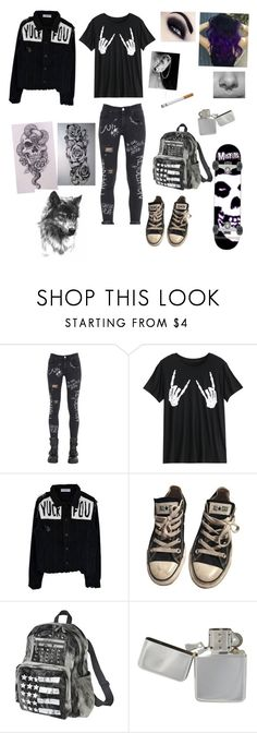 """""""Untitled #127"""" by officialmayraphoenix ❤ liked on Polyvore featuring GaÃ«lle Bonheur, Converse and Mossimo Supply Co."""