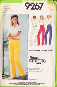 1970s Misses' Proportioned Pants / A TimeSaver by MissBettysAttic, $6.00