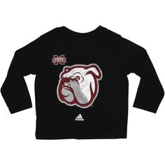 Mississippi State Bulldogs Toddler Tight Spiral Long Sleeve T-Shirt - Black
