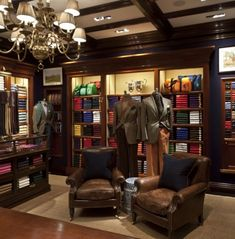 Polo Ralph Lauren in-store display. Shows the variety in product while still getting their brand image across through use of the mannequin's dress.