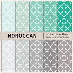 Moroccan digital papers. Patterns. $5.00