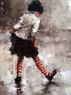 """Dancing in the Rain Giclee 16"""" x 12"""" Image used for the cover of Andre Kohns Book, The Endless World of a Moment....available through our website http://www.andrekohnfineart.com/"""