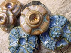 DSC04073 049c stoneware cabochons set of 6 by Lisa Peters Art, via Flickr