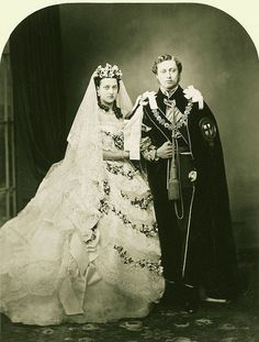 Wedding of Alexandra of Denmark and Albert, Prince of Wales later King Edward the seventh.