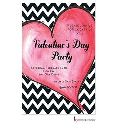 This Zippy Heart Invitation is the perfect way to announce your party or special event in style. Personalize with your own special text. | Invitations by Design