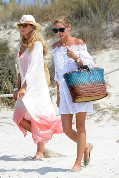 Olivia Palermo & her mother Lynn Hutchinson on the beaches of Formentera