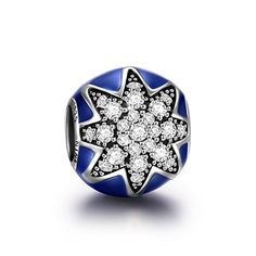 """NINAQUEEN """"Star"""" Series 925 Sterling Silver Charm with Gemstone and Dark Blue Enamel Fits Pandora Charms(NinaQueen fine jewelry is designed in Paris in limited edition collections.NinaQueen patents its designs in 64 countries around the world. Enjoy the beauty,luxury, and quality of NinaQueen) Pandora Charms Style http://www.amazon.com/dp/B00X1468H6/ref=cm_sw_r_pi_dp_ZnuUvb1MGVA0N"""