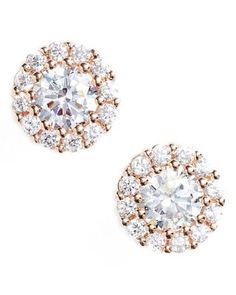 nordstrom rose gold stud earrings