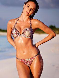 eaae3b0307 Candice Swanepoel - Strappy Add-2-Cups Push-Up Halter Bikini - Bombshell