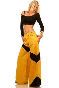 Techno pant XPERADO yellow black Raver pants