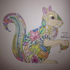 From Enchanted Forest coloring book for grown ups, colored by my mom <3 :)  #stressreliever