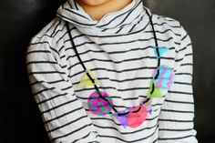 Milk Jug Jewelry--See how a milk jug can be transformed into a cool necklace for kids.