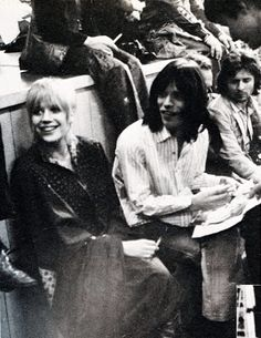 Marianne and Mick Jagger at the Rock n Roll Circus http://dietcokeandsympathy.blogspot.co.uk