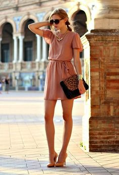 Feminine and Lovely Short Dresses for Summer - Pretty Designs - - RORESS closet ideas fashion Pink Chiffon Short Dress Source by ilmalili Dress Outfits, Casual Dresses, Short Dresses, Casual Outfits, Fashion Dresses, Summer Dresses, White Lace Dress Short, Wedding Outfits For Women, Fiesta Outfit