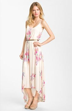 FELICITY & COCO Hawaiian Print Belted Maxi Dress | Nordstrom