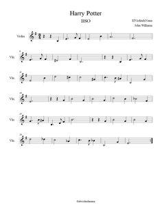 """Aquí tenéis la partitura y las notas de """"Harry Potter"""" para violín o cualquier otro instrumento que se pueda interpretar en clave de sol. En esta serie de películas acompaña una banda sonora espectacular como la siguiente. Espero que os guste!! ;) Para..."""