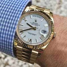 Rolex Day-Date Luxury Watches Collection. New and Authentic Watches for Sale. Army Watches, Rolex Watches For Men, Seiko Watches, Luxury Watches For Men, Cool Watches, Male Watches, Dream Watches, Rolex Submariner, Rolex Gmt