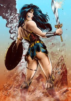 Wonder Woman colors by FantasticMystery.deviantart.com on @DeviantArt