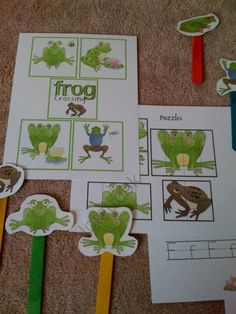 Frog Crossing product from Preschool-Printable on TeachersNotebook.com
