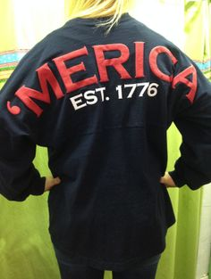 Merica Spirit Jersey  navy blue by whalestailboutique on Etsy, $53.95 Small Monogram on front in white please and thank you