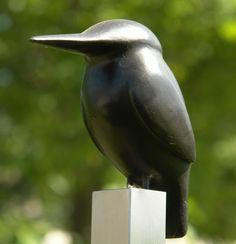 IJsvogel Arduinen ijsvogel op RVS-paal Cees Meijer