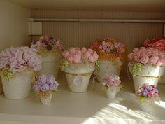 Vida com Arte: Flores de tecido e moldes !!