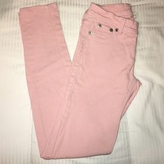 Light pink skinnies Worn only a couple times. Still look new they are just too big for me Jeans Skinny