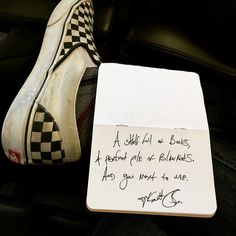 """""""A shelf full of books, a perfect pile of blankets, and you next to me."""" — Daily Haiku on Love by Tyler Knott Gregson #tylerknott #vans (at Delta Terminal - Minneapolis-Saint Paul International Airport)"""