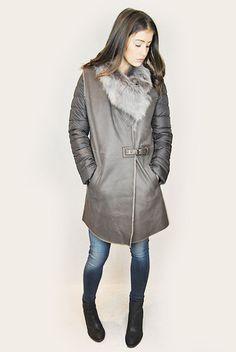 JESSIMARA BROWN SHEEPSKIN GILET & PUFFER COAT